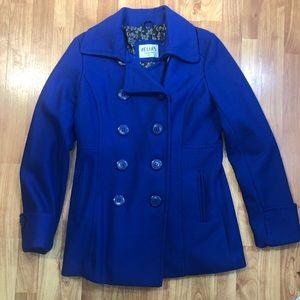 Delia's blue wool coat